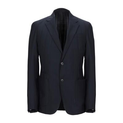 ZZEGNA テーラードジャケット ダークブルー 48 ウール 98% / ポリウレタン 2% テーラードジャケット