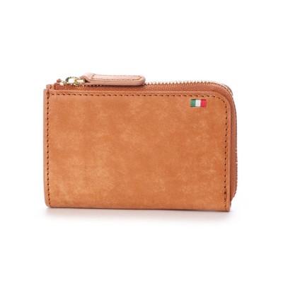 ミラグロ Milagro イタリアンヌバック L字ファスナーミニ財布 (キャメル)