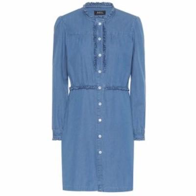アーペーセー A.P.C. レディース ワンピース デニム シャツワンピース ワンピース・ドレス Hoshl denim shirt dress indigo delave
