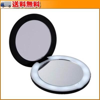 10倍拡大鏡コンパクト2面ミラー(ライト付) ▼10倍拡大鏡付きのコンパクトミラー