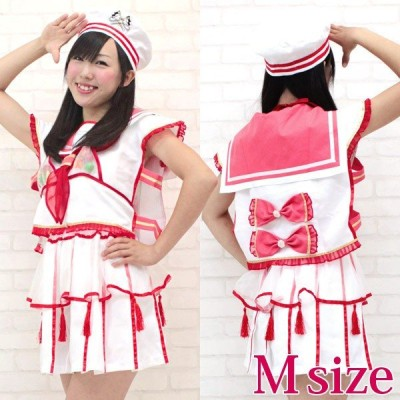 コスプレ キャラクター ももいろアイドル ココナツ 衣装 M NH2062Mレッド