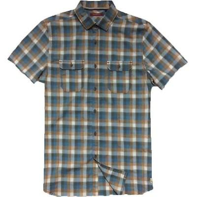 ジェレミア メンズ シャツ トップス Jeremiah Men's Space Dye Plaid S/S Shirt