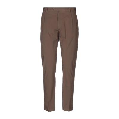 MAXI HO パンツ ブラウン 52 コットン 97% / ポリウレタン 3% パンツ