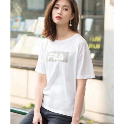 ジーラ GeeRA<FILA>ボックスロゴTシャツ (オフホワイト)