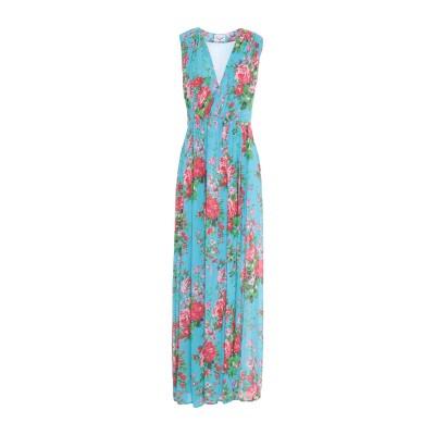 LEITMOTIV ロングワンピース&ドレス アジュールブルー 40 レーヨン 100% ロングワンピース&ドレス