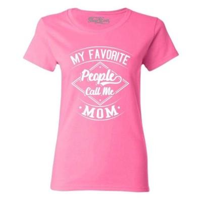 レディース 衣類 トップス Shop4Ever Women's My Favorite People Call Me Mom Graphic T-Shirt Tシャツ