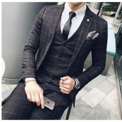 3点セット ジャケット&ズボン&ベスト学生 結婚式 メンズ 新作 細身 スーツ 2色入 フォーマル 入学式 卒業式 入園式 卒園式 通学オフィ