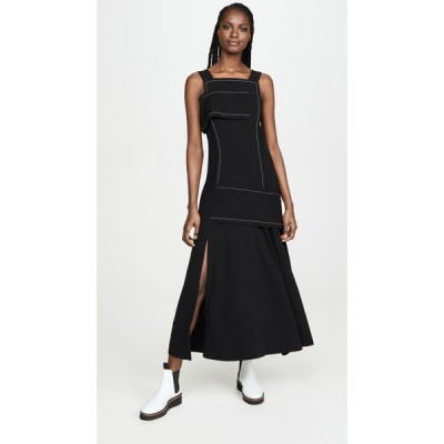 スリーワン フィリップ リム 3.1 Phillip Lim レディース ワンピース ラップドレス ワンピース・ドレス Crepe Asymmetric Wrap Cold Shoulder Dress Black