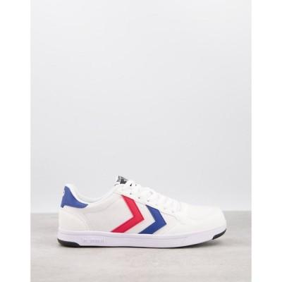 ヒュンメル Hummel メンズ スニーカー シューズ・靴 Stadil Light Canvas Trainers In White ホワイト