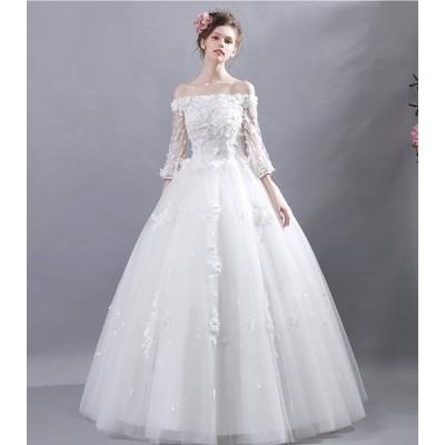 ウエディングドレス レディース ベアトップ ブライダル 上品な 花嫁ドレス 写真撮影 ドレス オシャレ プリンセスドレス 素敵な 演奏会ドレス