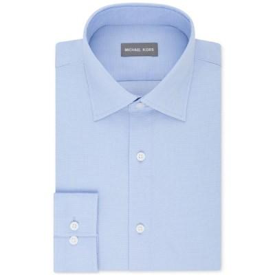 マイケル コース Michael Kors メンズ シャツ トップス Regular Fit Airsoft Stretch Non-Iron Performance Solid Dress Shirt Powder Blue