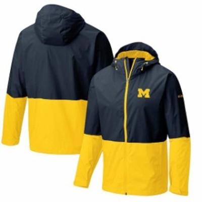 Columbia コロンビア スポーツ用品  Columbia Michigan Wolverines Navy Collegiate Roan Mountain Jacket
