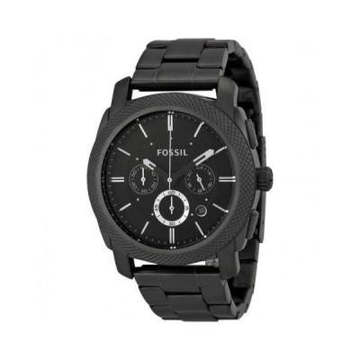 Machine Chronograph Black Dial Smoke Ion-plated Men's Watch