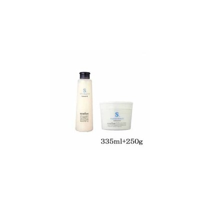 中野製薬 センフィーク シャンプー スムース 335ml + リペアメント スムース 250g