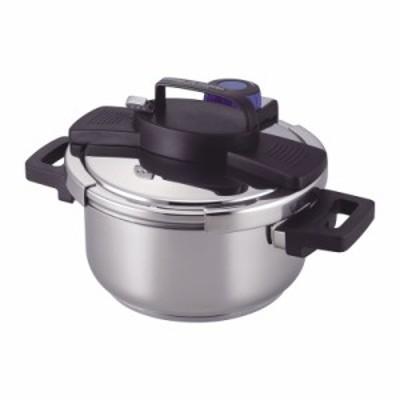 3層底ワンタッチレバー圧力鍋4.0L H-5388 / ポイント消化 ギフト プレゼント 内祝 SALE