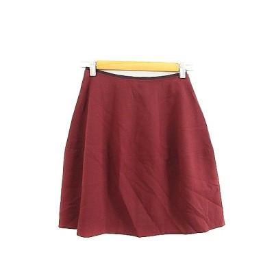 【中古】ラ トータリテ La TOTALITE スカート フレア ミニ 36 赤 レッド /AAM24 レディース 【ベクトル 古着】