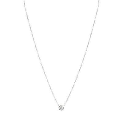 アクア レディース ネックレス・チョーカー アクセサリー Sterling Silver Small Circle Pendant Necklace 16 - 100% Exclusive