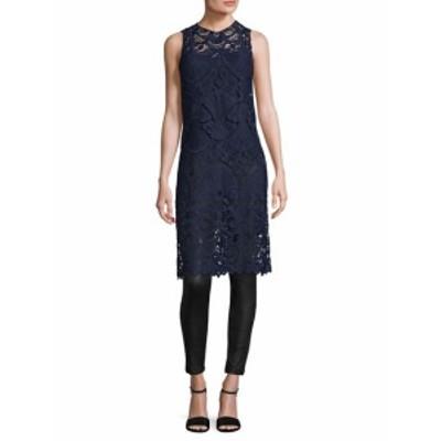 アリス+オリビア レディース ワンピース Kelissa Lace Side Split Shift Dress