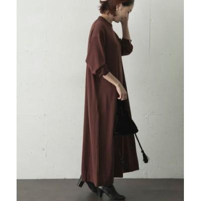 ATON CREWNECK LONG DRESS
