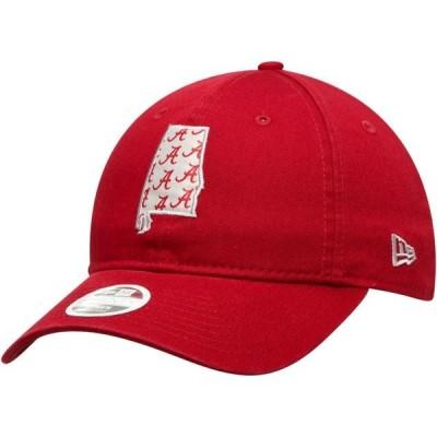 レディース スポーツリーグ アメリカ大学スポーツ Alabama Crimson Tide New Era Women's Stamp 9TWENTY Adjustable Hat - Crimson - OS