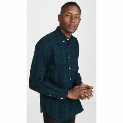 ポーチュギースフランネル Portuguese Flannel メンズ シャツ フランネルシャツ トップス Bonfim Plaid Flannel Button Down Shirt Black