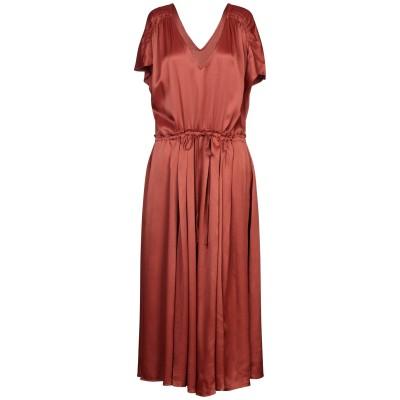 FREE PEOPLE 7分丈ワンピース・ドレス 赤茶色 M レーヨン 50% / レーヨン 50% 7分丈ワンピース・ドレス