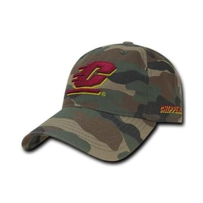 ユニセックス スポーツリーグ アメリカ大学スポーツ NCAA CMU Central Michigan Chippewas University Relaxed Camo Baseball Caps Hat
