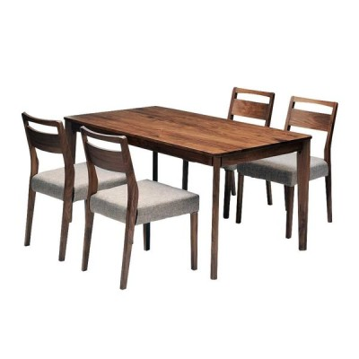 ダイニングテーブルセット ダイニング5点セット meets 140 テーブル140cm×1 チェア×4 4人用 ウォールナット無垢材 カバーリングタイプ