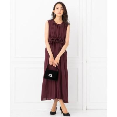 ドレス 【Demikitte】シフォンロングフレアワンピース