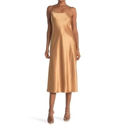 セオリー レディース ワンピース トップス Telson Flat Sateen Slip Dress BRONZE