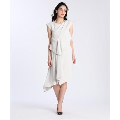 (ef-de/エフデ)《M Maglie le cassetto》アシンメトリーデザインドレス/レディース グレーベージュ3