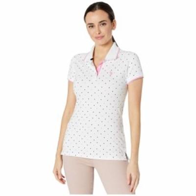 ユーエスポロアッスン U.S. POLO ASSN. レディース ポロシャツ トップス Dot Print Polo Shirt Optic White