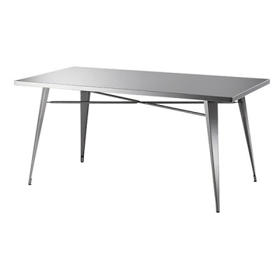 ダイニングテーブル 4人掛け用 ステンレス 鉄 スタイリッシュ インダストリアル