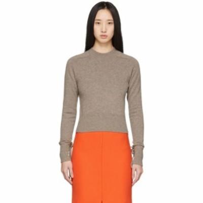 ヴィクトリア ベッカム Victoria Beckham レディース ニット・セーター トップス Brown Cashmere Cropped Sweater Stone