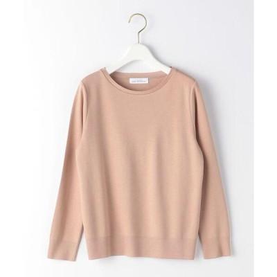 tシャツ Tシャツ [ 手洗い可能 ] D ポンチ ニットソー クルーネック プルオーバー