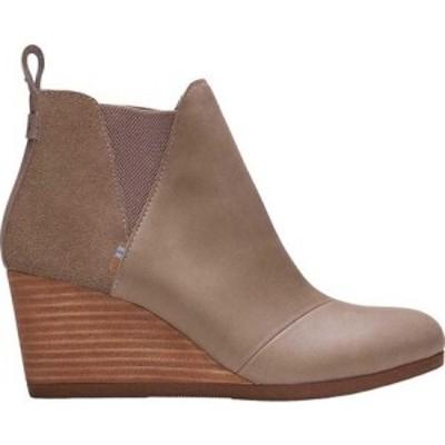 トムス TOMS レディース ブーツ ウェッジソール シューズ・靴 Kelsey Wedge Bootie Taupe Grey Leather