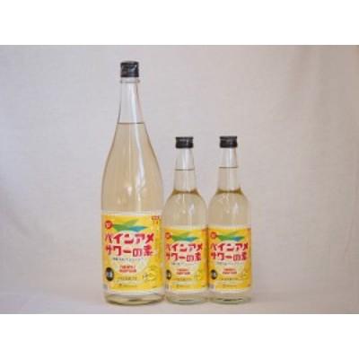 パインアメサワーの素セット 甘酸っぱくジューシーパイナップル果汁 25度 中野BC(和歌山県)600ml×2本 1800ml×1本