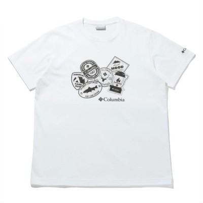 アウトドアシャツ コロンビア 21春夏 ヤハラフォレスト ショートスリーブ Tシャツ メンズ L WHITE×PATCH