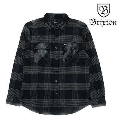 BRIXTON 長袖シャツ BOWERY BLACK/STEEL ブリクストン