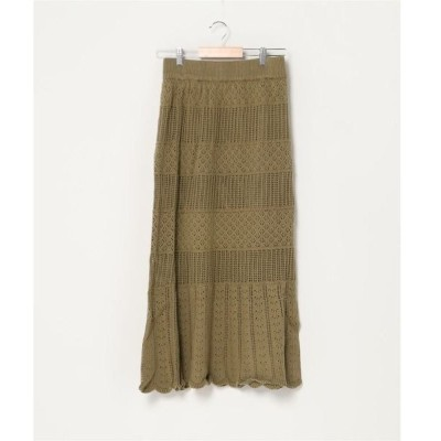 スカート WEGO/【セットアップ対象商品】透かし編みニットスカート