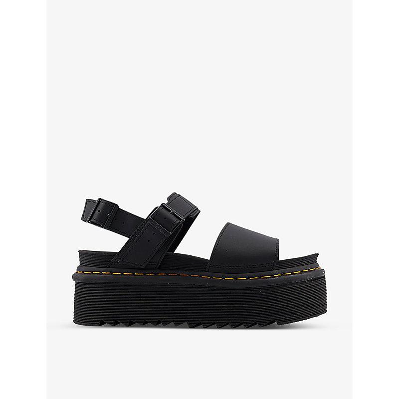 Voss Quad leather flatform sandals