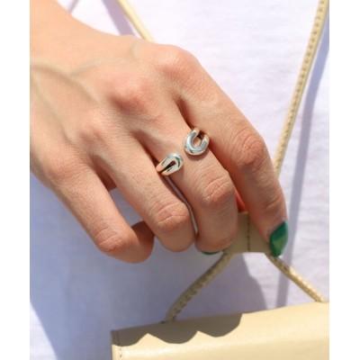 指輪 PHILIPPE AUDIBERT/フィリップオーディベール Anne ring -brass silver color- リング