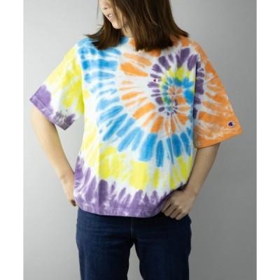 tシャツ Tシャツ Champion CW-R307 タイダイ染め 半袖 Tシャツ