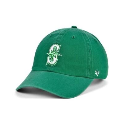 47ブランド レディース 帽子 アクセサリー Seattle Mariners Kelly White CLEAN UP Cap