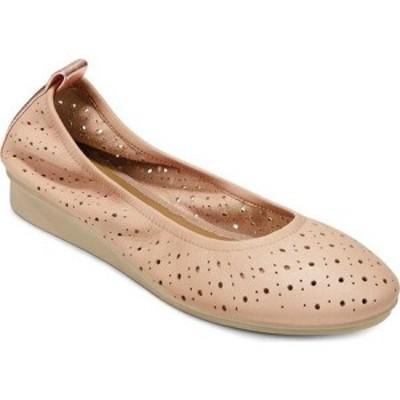 エアロソールズ Aerosoles レディース スリッポン・フラット バレエシューズ シューズ・靴 Wooster Perforated Ballet Flat Blush/Rose L