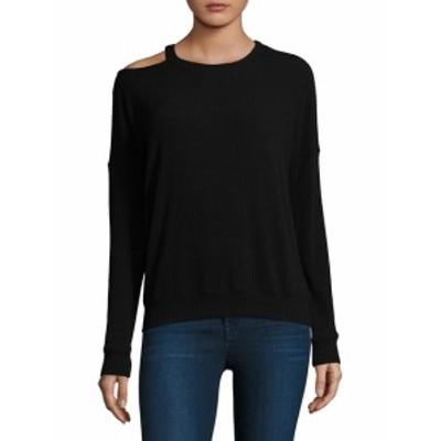 エラモス レディース トップス ニット  One-Shoulder Sweatshirt