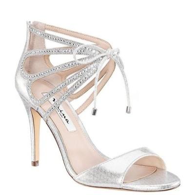 ニナ レディース サンダル シューズ Corrie Metallic Jewel Embellished Tie Detail Stiletto Dress Sandals