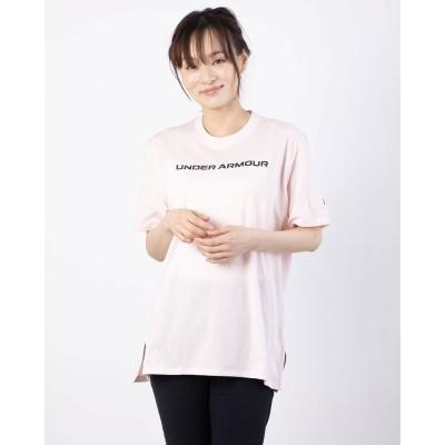 アンダーアーマー UNDER ARMOUR レディース 半袖Tシャツ UA Live Branded Oversized SS 1365137 (ピンク)