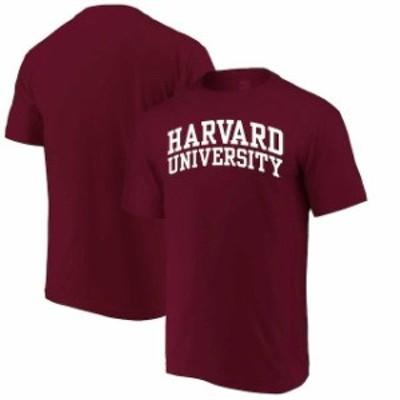 Alta Gracia アルタ グラシア スポーツ用品  Alta Gracia (Fair Trade) Harvard Crimson Crimson Arched Wordmark T-Shirt