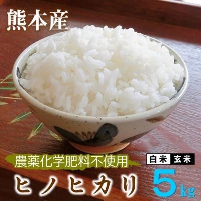 お米 5kg 自社農園産 ヒノヒカリ令和2年産 農薬化学肥料不使用 熊本県産 白米 玄米  放射能検査済み